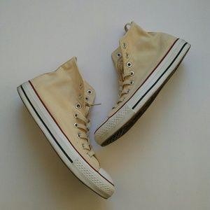 Converse High Top Sneakers Cream Unisex
